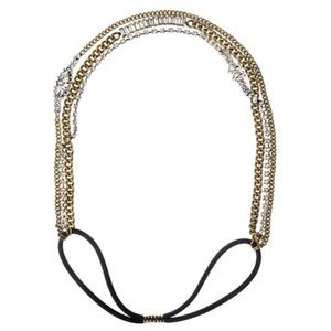 NWOT Crystal and Chain Stretch Headband